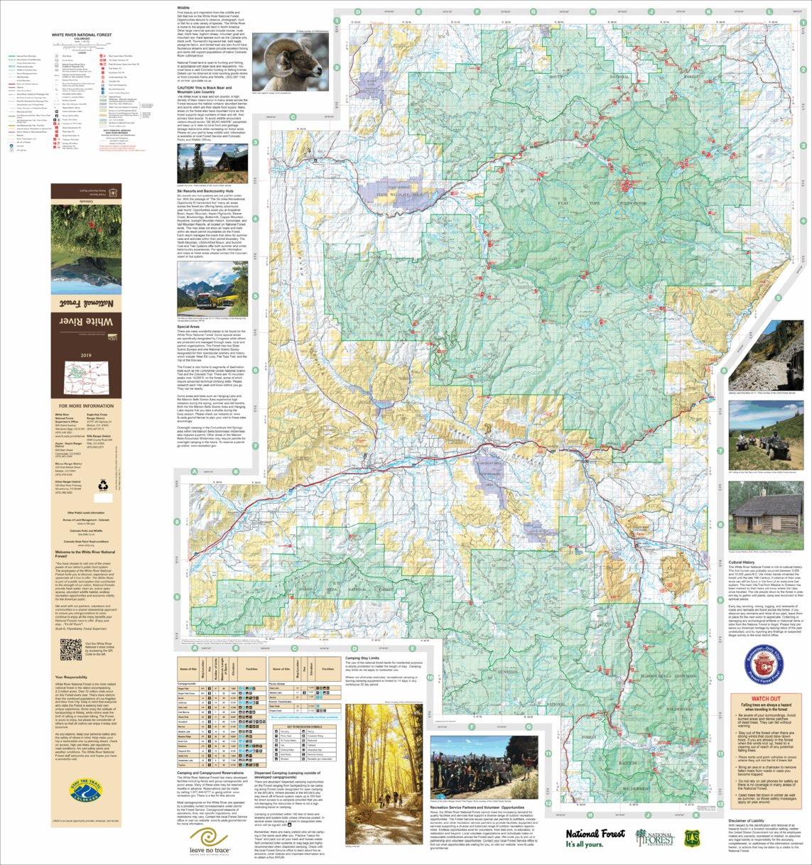 White River National Forest Visitor Map (West Half) - US Forest ...