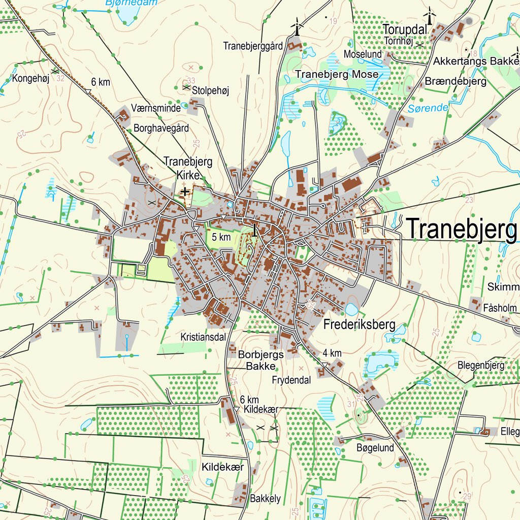 Samso 1 1 25 000 Scale Kortforsyningen Avenza Maps