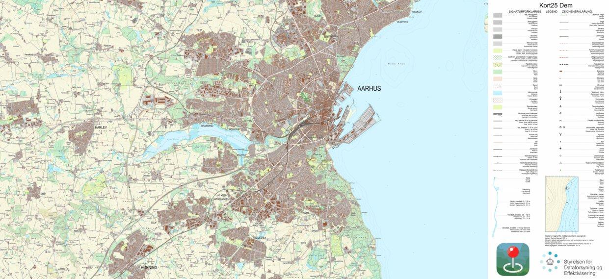 Galten 1 25 000 Scale Kortforsyningen Avenza Maps