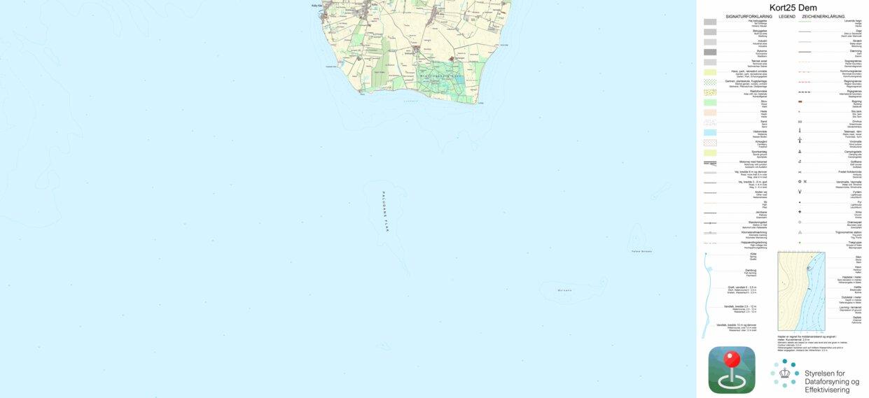 Samso 3 1 25 000 Scale Kortforsyningen Avenza Maps