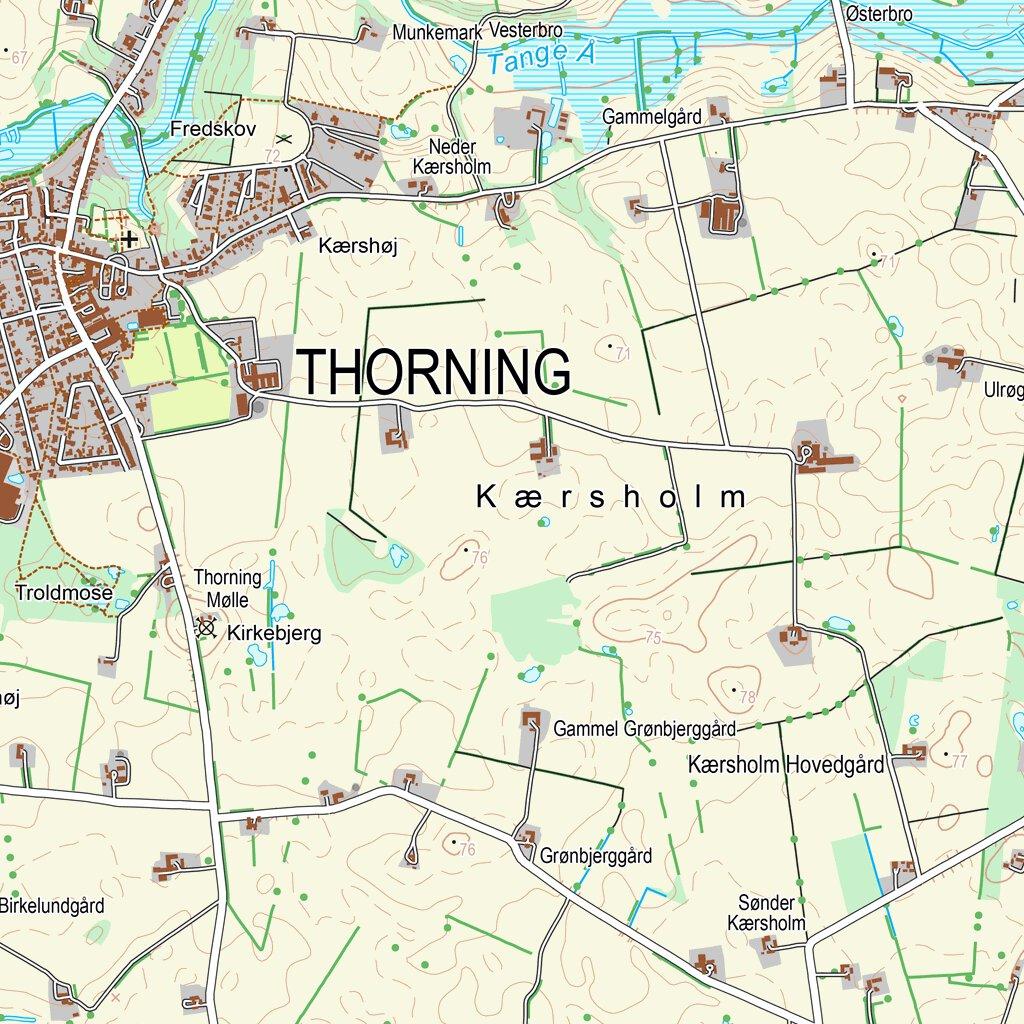 Region Midtjylland 1 25 000 Scale Kortforsyningen Avenza Maps