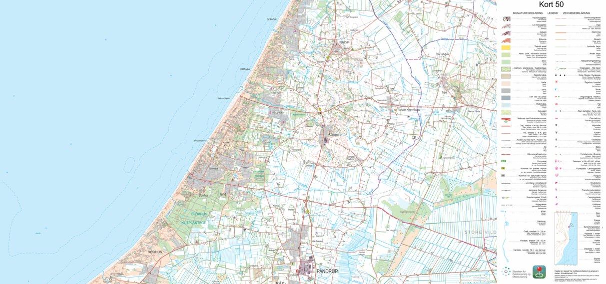 Pandrup 1 50 000 Scale Kortforsyningen Avenza Maps