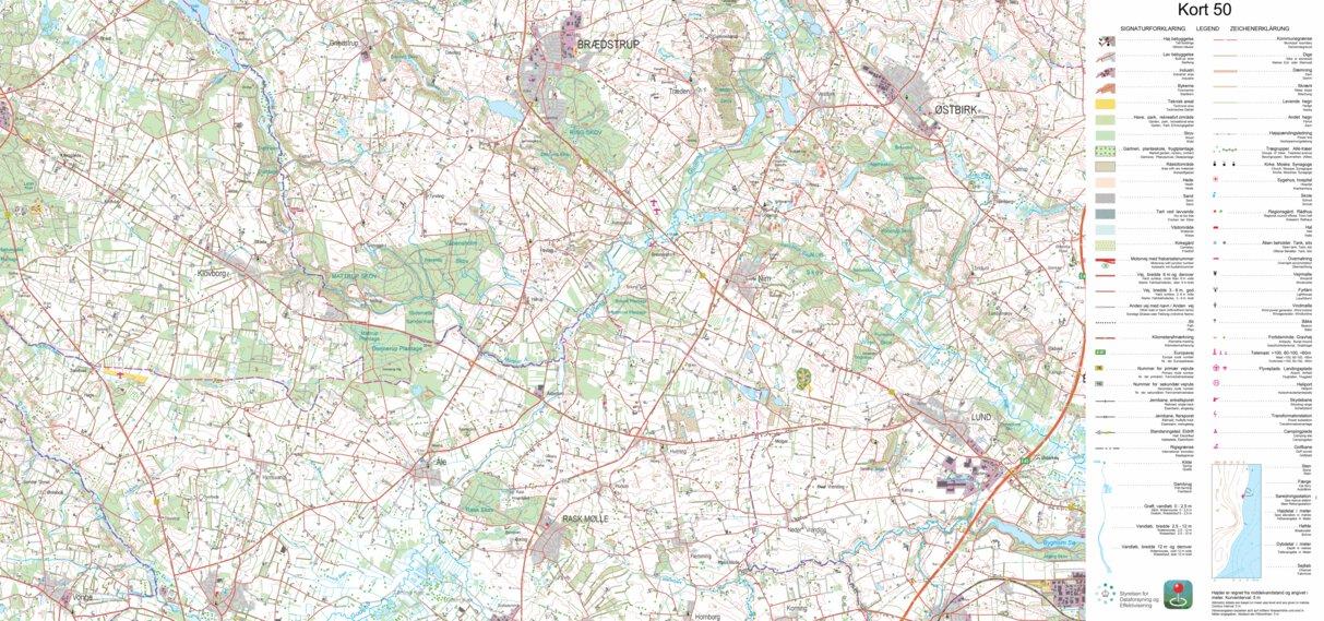 Braedstrup 1 50 000 Scale Kortforsyningen Avenza Maps