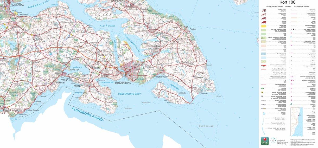 Aabenraa 1 100 000 Scale Kortforsyningen Avenza Maps