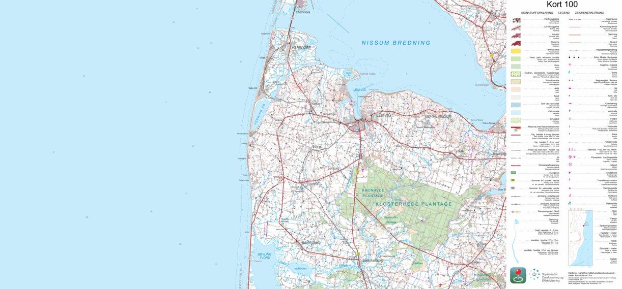 Region Midtjylland 1 100 000 Scale Kortforsyningen Avenza Maps
