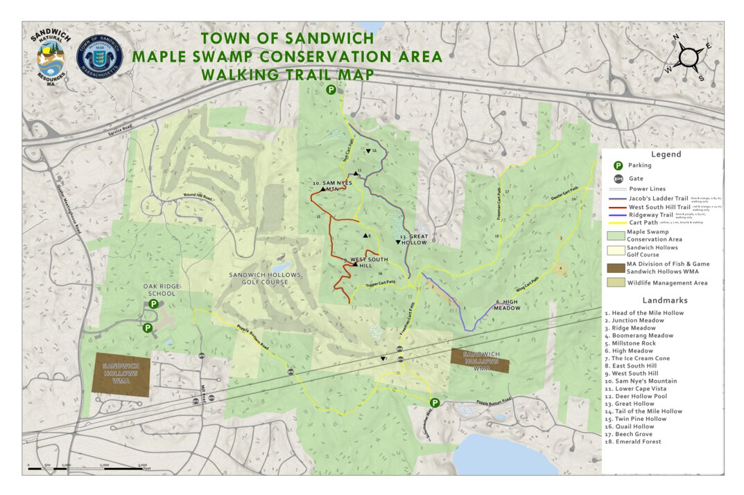 Maple Swamp Conservation Area Trail Map - Town of Sandwich