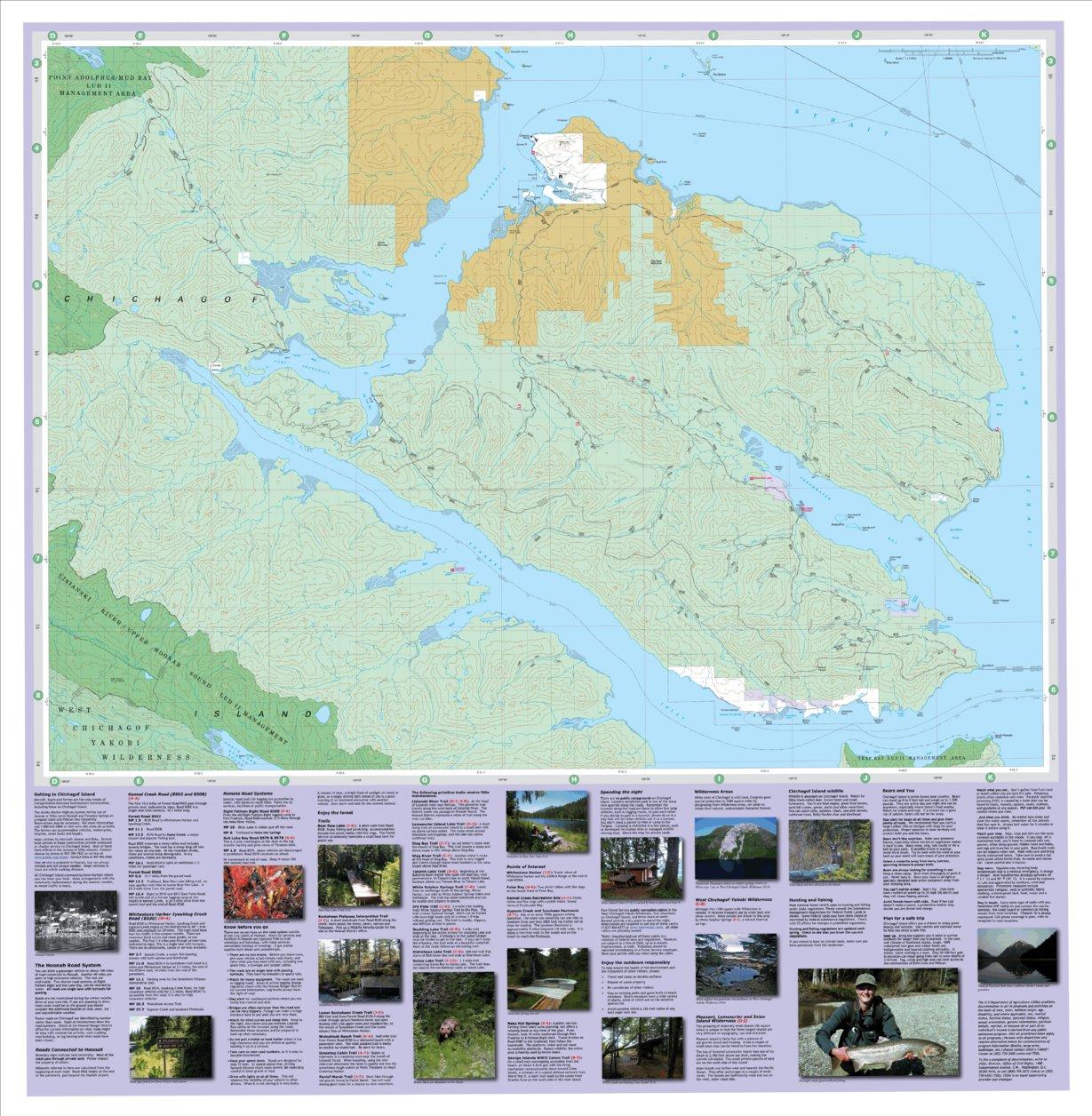 Huna Alaska Map.Chichagof Island Hoonah Area Hoonah Side Us Forest Service R10