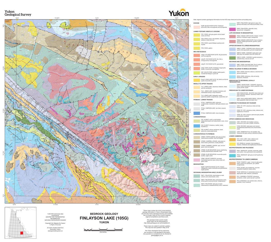 105G, Finlayson Lake: Yukon Bedrock Geology - Yukon Geological ... on