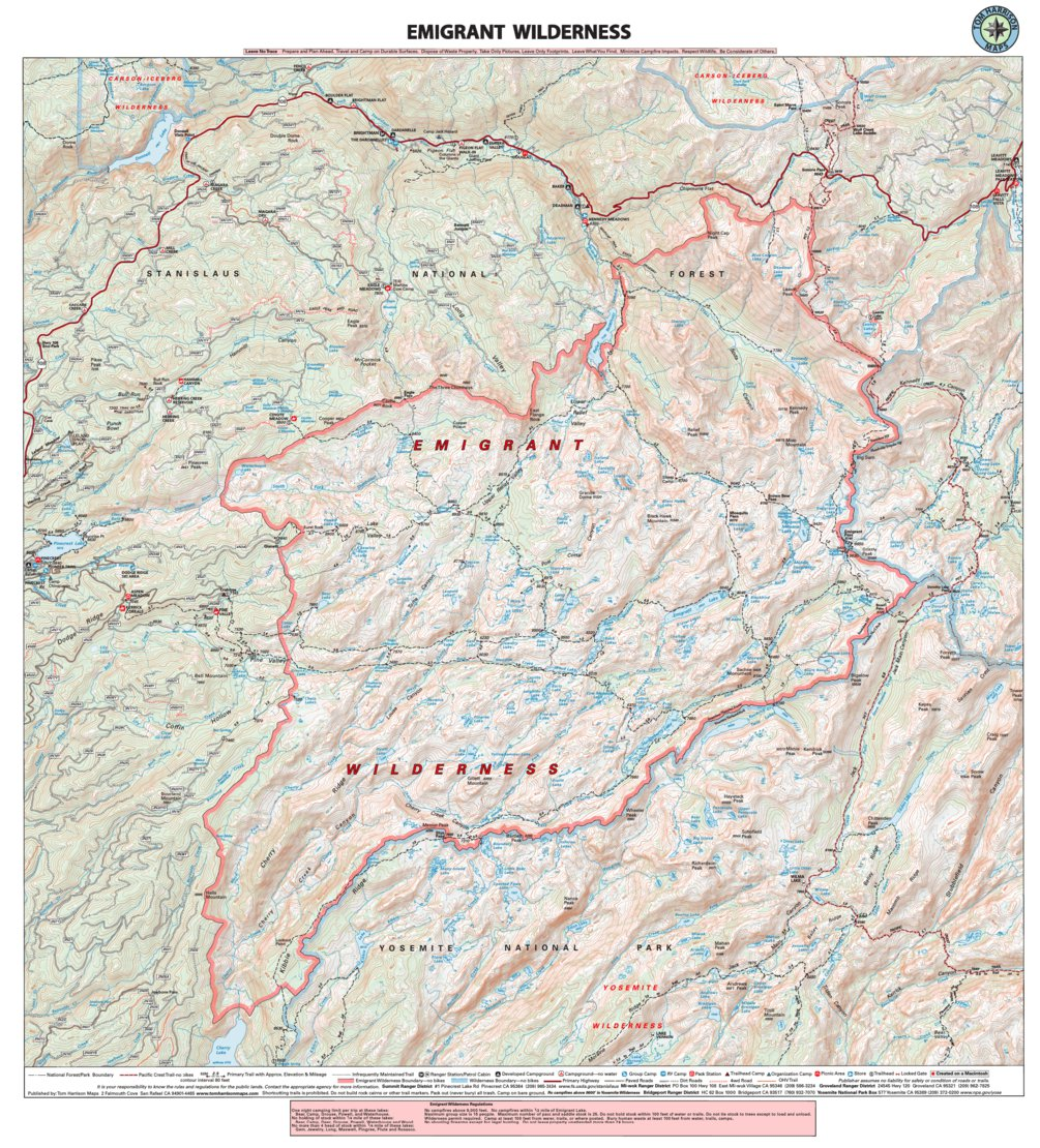 Emigrant Wilderness - Tom Harrison Maps - Avenza Maps