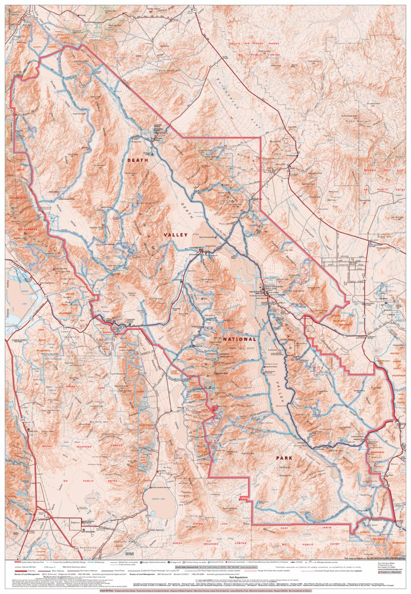 Valley National Park - Tom Harrison Maps - Avenza Maps on