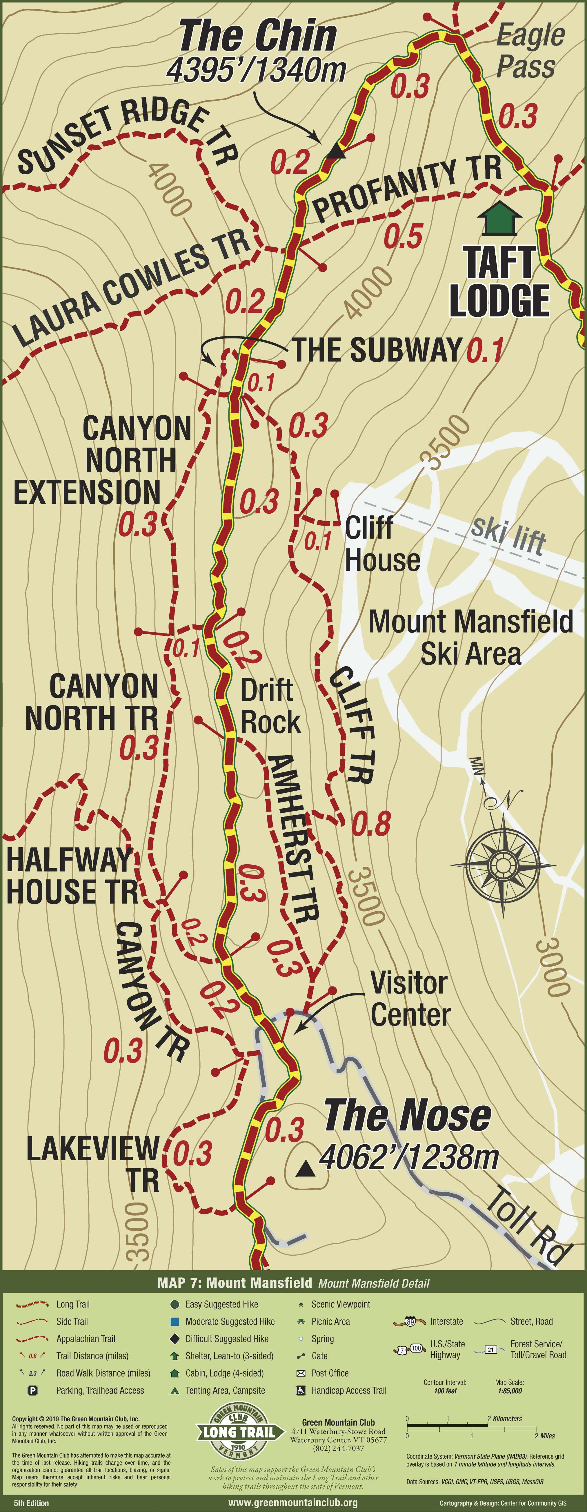 Long Trail Map - Green Mountain Club - Avenza Maps