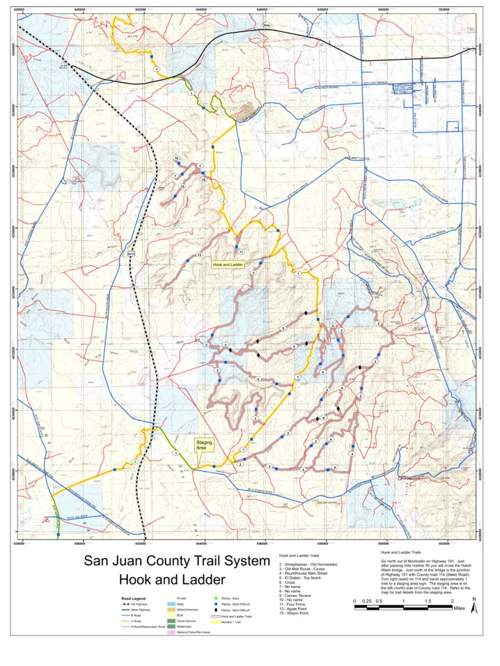 County Utah Map.Hook And Ladder San Juan County Utah Atv Ohv Trail System Map