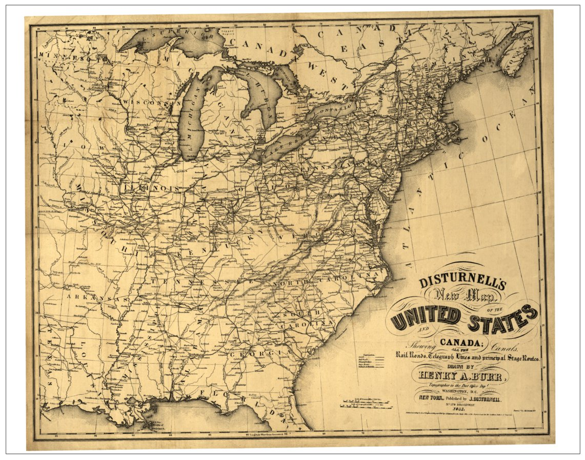 Disturnell\'s New Map of the United States 1851 - TESS Cartography ...