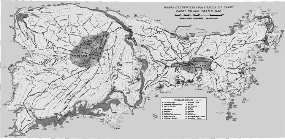 Capri Map on