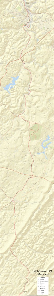 Allegheny Mountains Bike Tour part 2 - Bikeverywhere - Avenza Maps