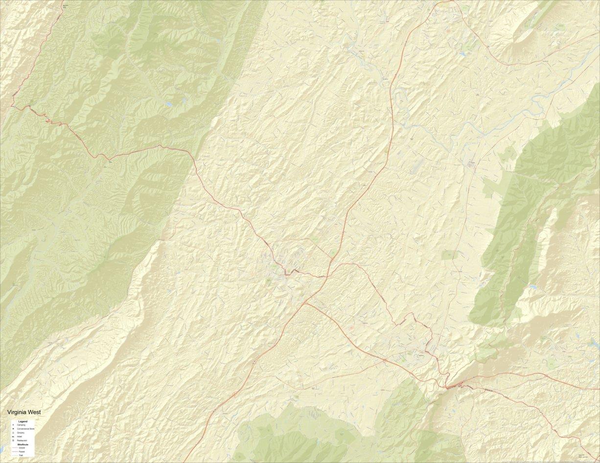 Allegheny Mountains Bike Tour part 3 - Bikeverywhere - Avenza Maps
