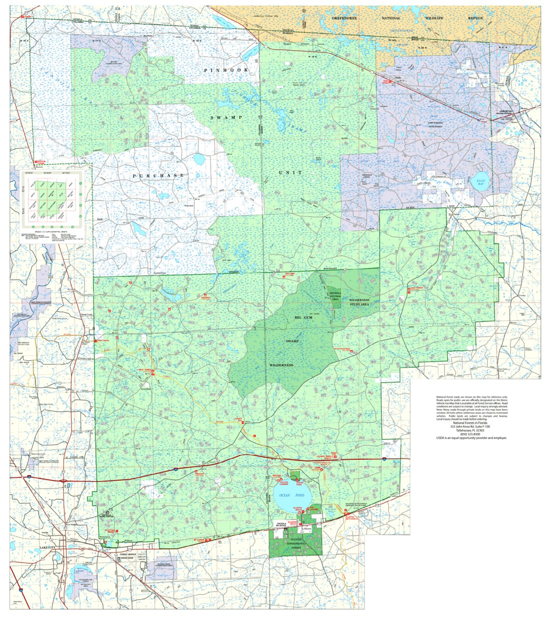 Osceola National Forest Visitor Map US Forest Service R8 Avenza Maps