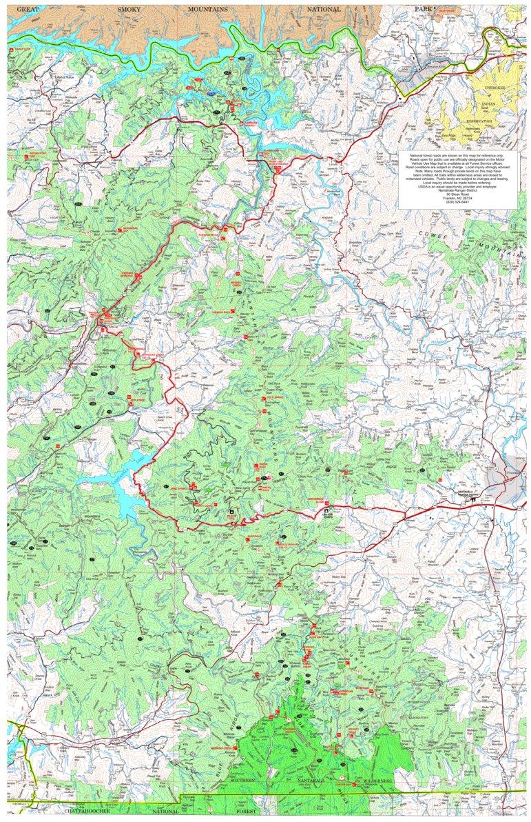 Amazing Nantahala National Forest Map Galleries - Printable Map ...