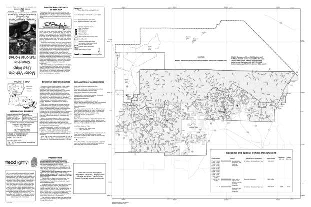 Motor Vehicle Use Map, MVUM, Calcasieu District (2 of 2), Kisatchie on