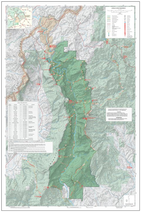 Pisgah National Forest, Linville Gorge Wilderness, Special Use Map ...