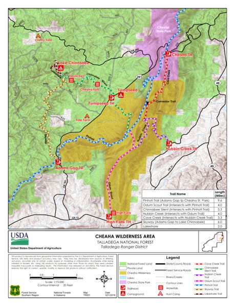 Talladega Cheaha Wilderness Area - US Forest Service R8 ... on chehaw park campground map, alabama state map, mt. cheaha map, forest park hiking trails map, mount cheaha trail map, cheaha mountain hiking trail map, blauvelt state park trail map,