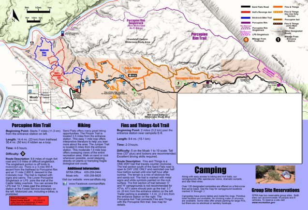 Sand Flats Recreation Area Trails/Campgrounds plus info  - Grand