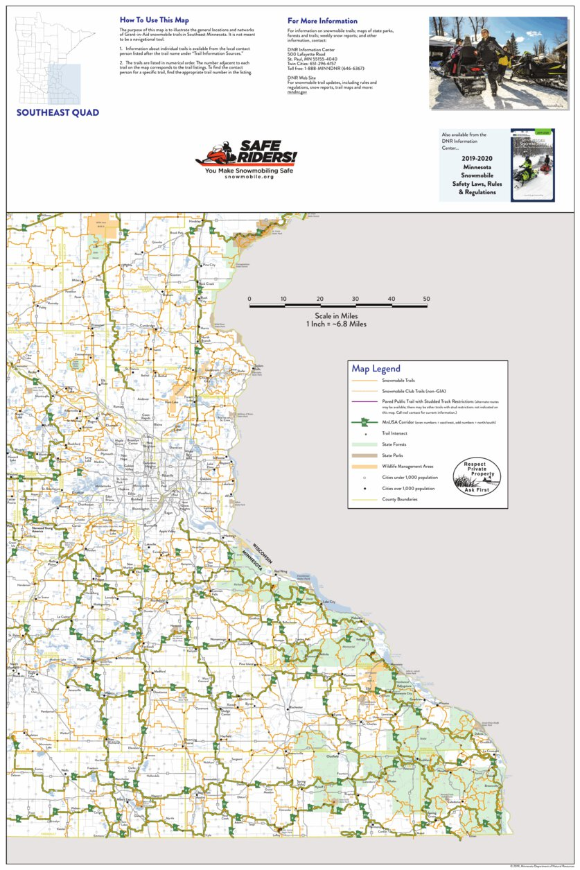 SE Minnesota Snowmobile Trail Quadrant Map - Minnesota ... on st cloud mn airport map, mn horse trail map, mn atv map, mn golf course map, nisswa mn map, minnesota snowmobile map, brainerd baxter mn area map, mn state map, farmington river trail map, mn dnr lake depth maps, aitkin mn map, mn boat landing map, mn hunting map, bemidji mn map, mn fishing map, mn bike trail map, city of brainerd mn map, remer mn area map, mn hiking trails map, wadena mn map,