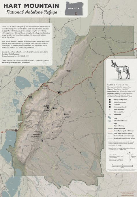 Hart Mountain National Antelope Refuge Medeiros Cartography
