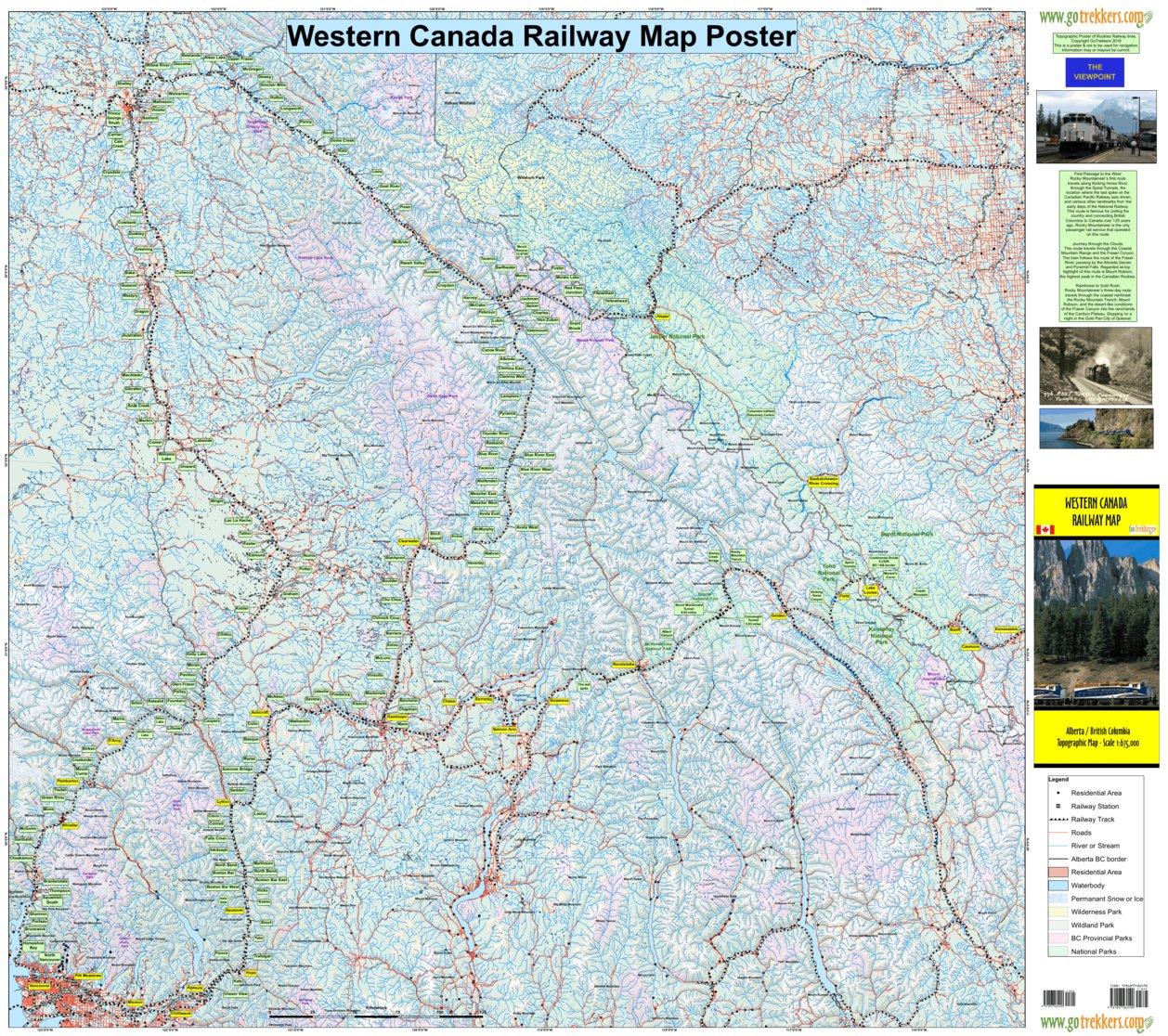 Western Canada Railway Map Gotrekkers Ltd Avenza Maps