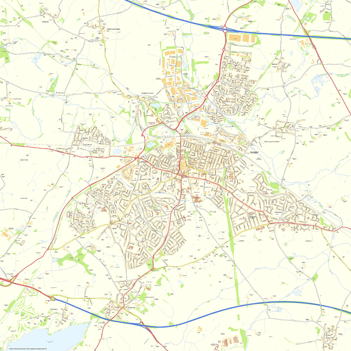 Rugby Street Map millamap Avenza Maps