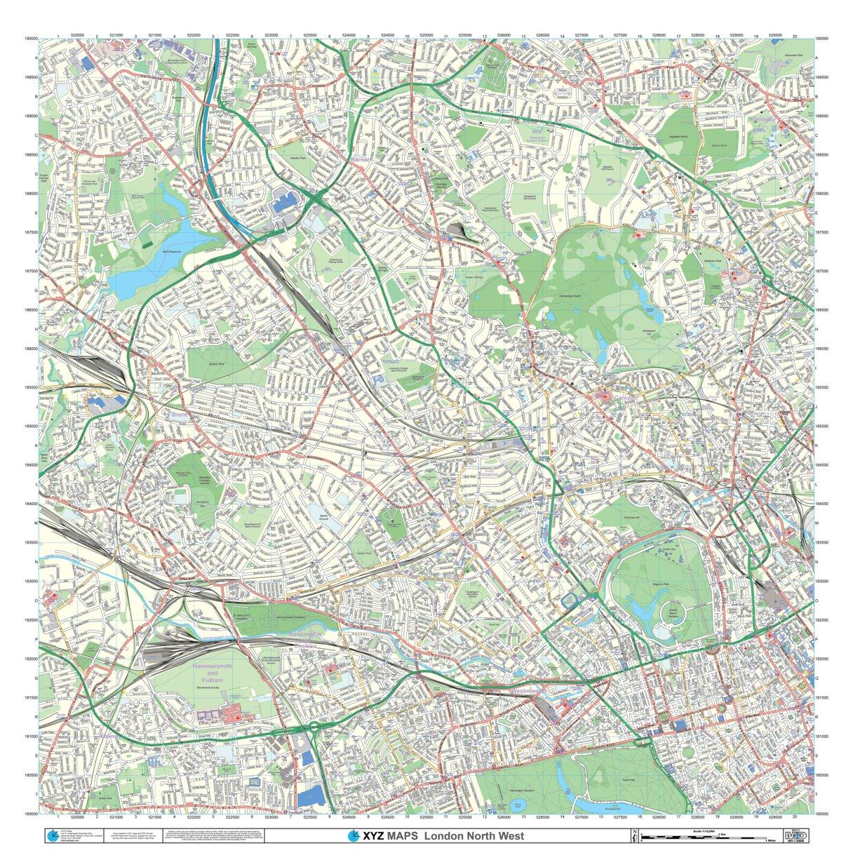 Xyz London North West Imap Xyz Maps Avenza Maps