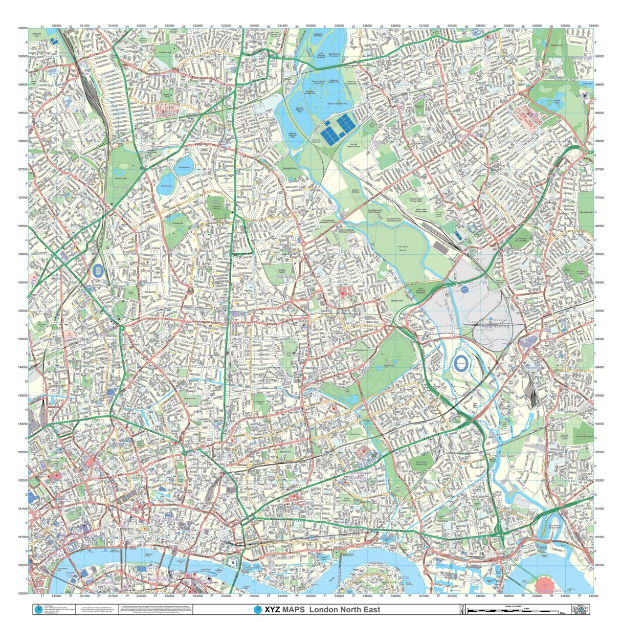 Map Of North East London.Xyz London North East Imap Xyz Maps Avenza Maps