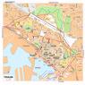 Michelin Toulon, France Tourist Map