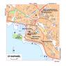 Michelin St-Raphaël, France Tourist Map
