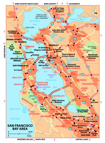 Map Of Sf Bay Area on