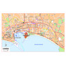 Michelin Cannes, France Tourist Map