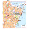 Michelin Antibes, France Tourist Map