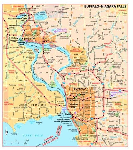 map of buffalo and niagara falls Michelin Buffalo Niagara Falls Tourist Map Michelin Avenza Maps map of buffalo and niagara falls