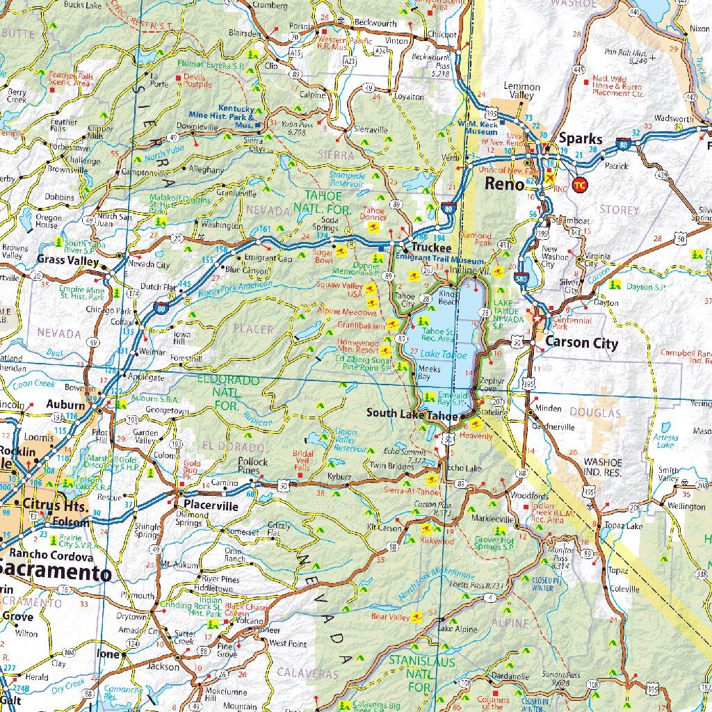 Michelin USA California/Nevada Road & Tourist Map No. 174 [Bundle ...