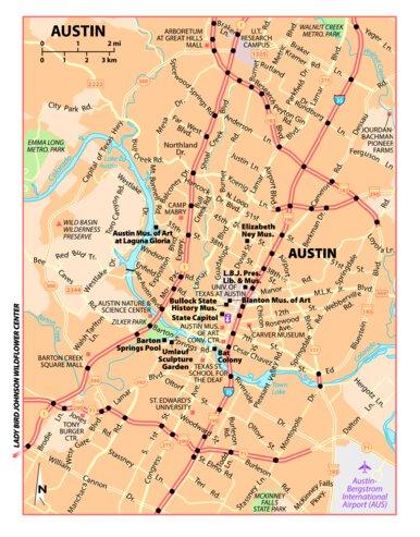 Texas Tourist Map Michelin Austin, Texas Tourist Map   Michelin   Avenza Maps