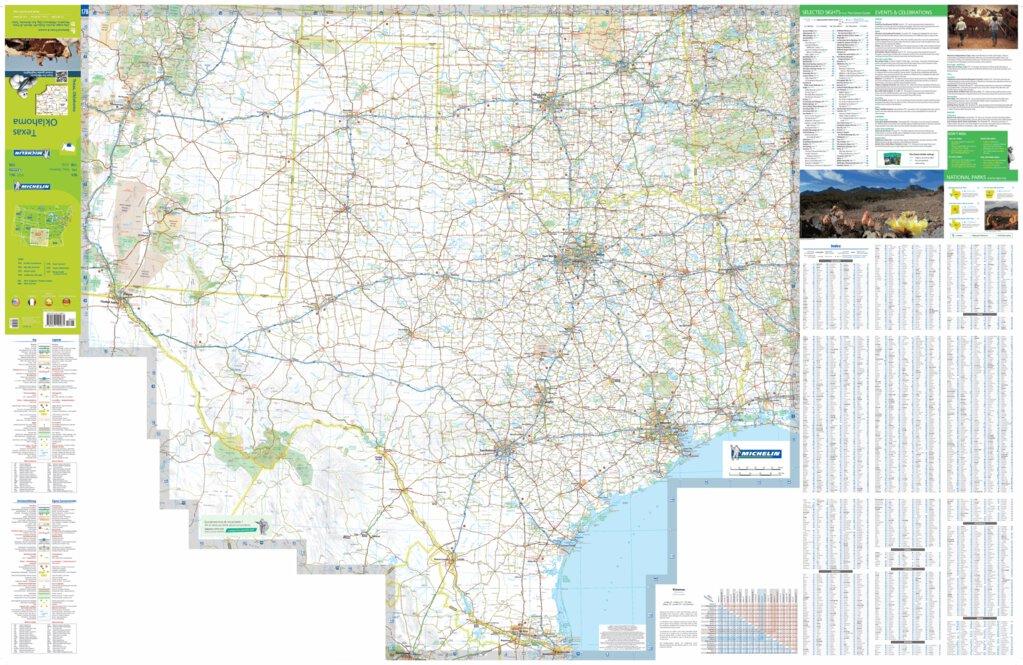 Map Of Usa Texas.Michelin Usa Texas Oklahoma Road Tourist Map No 176 Bundle