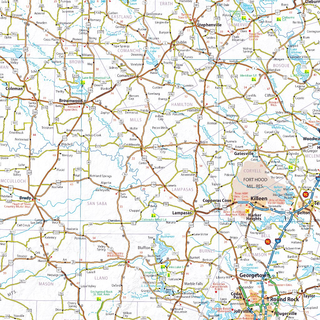 Michelin USA Texas Oklahoma Road & Tourist Map No. 176 ...