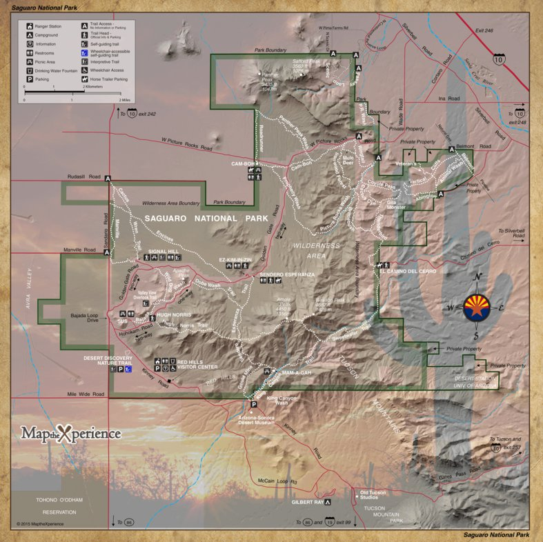 Saguaro West National Park Map the Xperience Avenza Maps