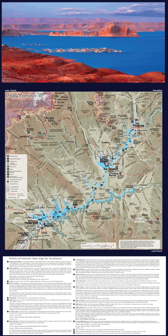 Glen Canyon Recreation Area - Lake Powell - Map the Xperience ...