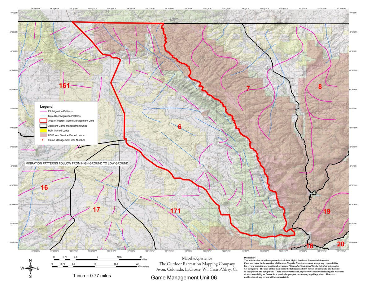 Colorado GMU 06 Hunting Map - Map the Xperience - Avenza Maps