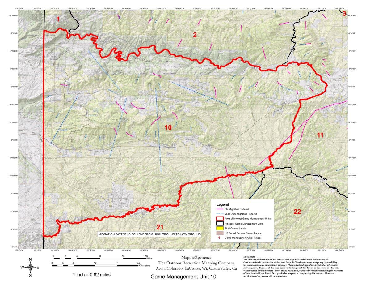 Colorado Big Game GMU Units 1, 2, 10, 201 Hunting Map Bundle - Map ...