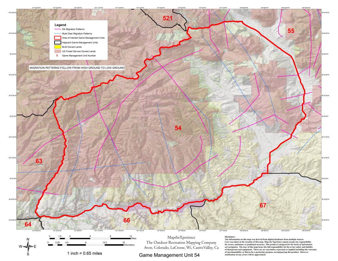 Colorado GMU 54 Hunting Map - Map the Xperience - Avenza Maps