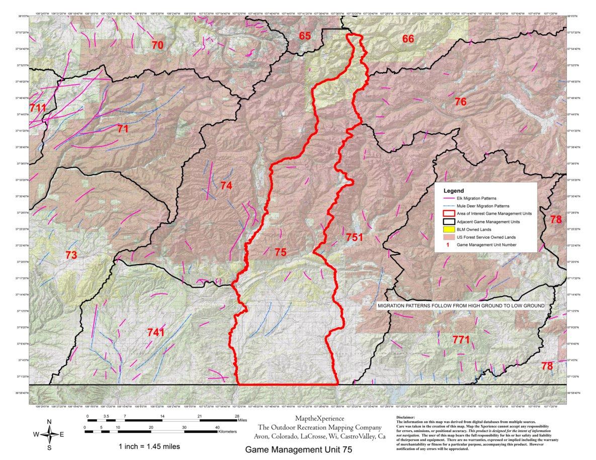 colorado gmu  hunting map. colorado big game gmu  hunting maps  map the