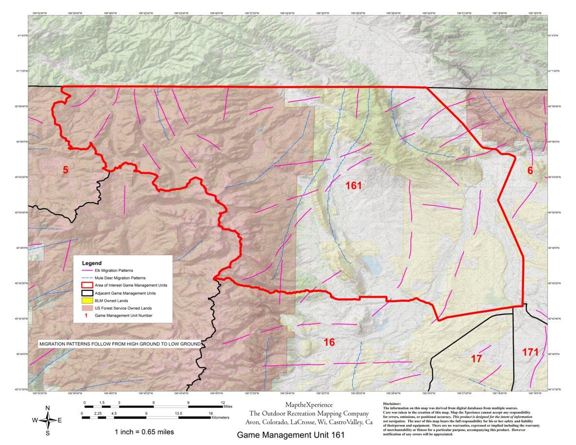 Colorado Big Game GMU Units 6,16,17,161,171 Hunting Map