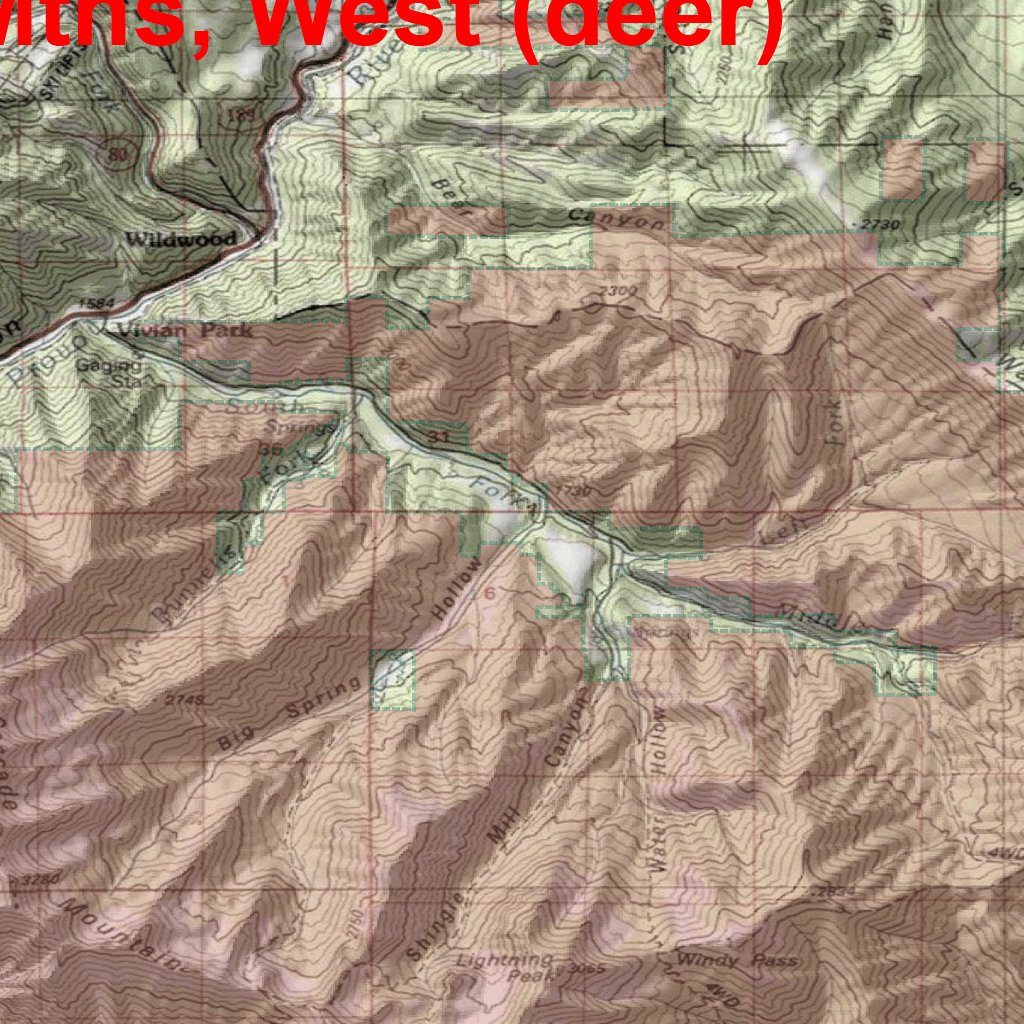 Utah DWR Hunt Map - Wasatch Mountains West, Buck Deer - Map the ...